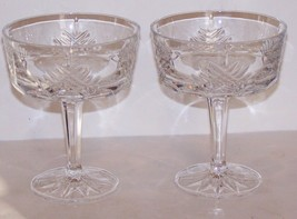Stunning Signed Gorham Crystal Chancellor Pair Of CHAMPAGNE/TALL Sherbet Stems - $18.80