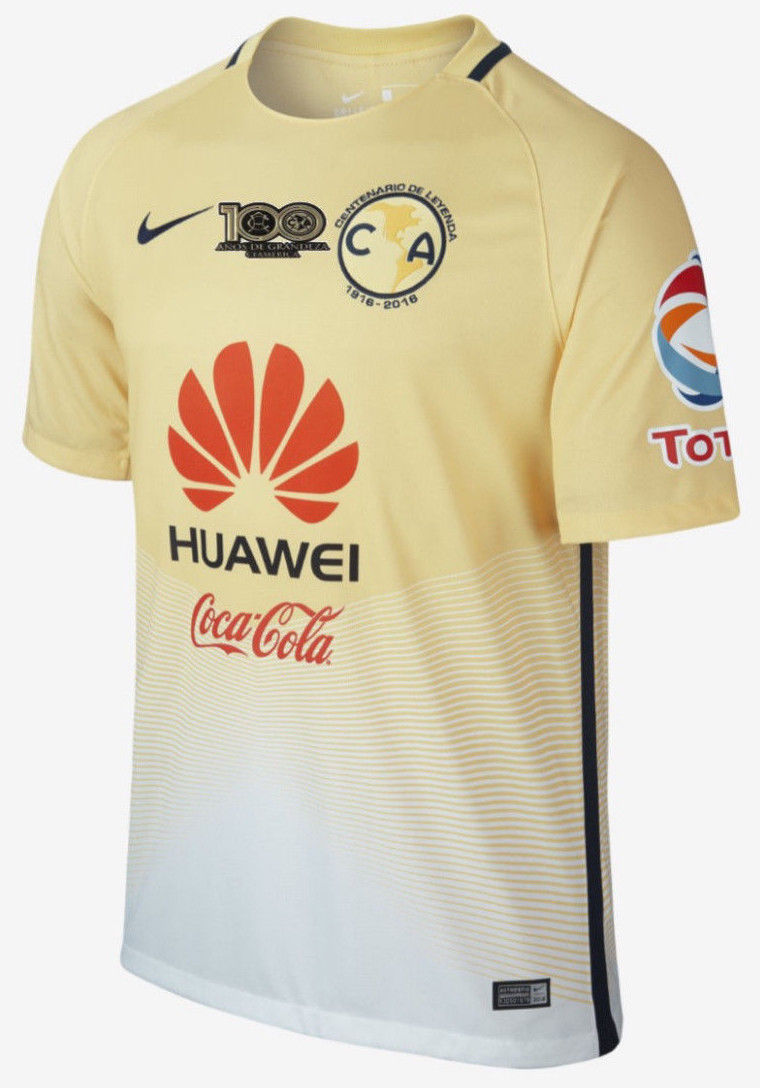 8ceb07d4f22 57. 57. Previous. NIKE CLUB AMERICA HOME CENTENARIO PATCH JERSEY 2016 17. NIKE  CLUB AMERICA HOME CENTENARIO ...