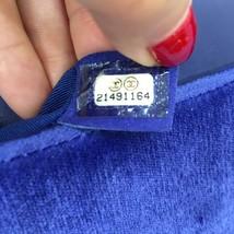 AUTHENTIC CHANEL ROYAL BLUE QUILTED VELVET MEDIUM BOY FLAP BAG SHW image 11