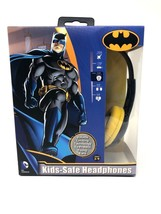 Batman Kid Safe Headphones Toddlers Over The Ear with Volume Limiter Qua... - $11.99