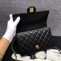 BNIB BRAND NEW AUTH CHANEL 19SS PEARL BLACK LAMBSKIN QUILTED FLAP BAG RECEIPT  image 7