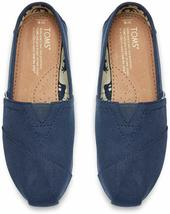 NEW Toms Women's The Venice Collection Classic Navy Canvas Slip On Flats Shoes image 4