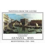 Guyana 1993 Tableaux de Rialto Pont par Canaletto S/S MNH ☜ - $1.28