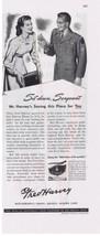 1945 FRED HARVEY Restaurant WWII Service Man & Hostess Military Print Ad  - $9.99