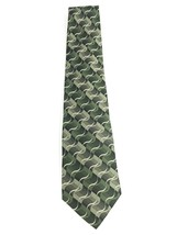 Zylos Platinum Men George Machado Green Waves Silk Necktie 55x3-3/4 - €4,39 EUR
