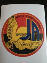 Jersey Airlines Limited - Luggage Sticker, Label, Advertising, Retro, Ai... - $12.86