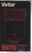 Vivitar 550 FD C/R Manual 1984 - $4.00