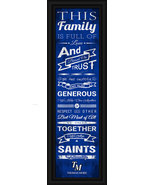 "Thomas More College ""Saints""- 24 x 8 Family Cheer Framed Print - $39.95"