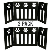 """2 Pack of Dog Gate Free Standing 48"""" Wide 19"""" Tall Three Panel Wooden Pa... - $80.90"""