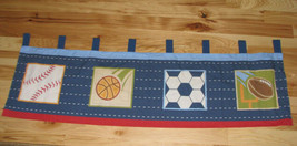 CIRCO Window Valance 54 x 15 Score! Collection Sports Baseball Basketball fun - $38.01