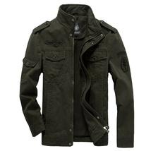 Men's Autumn and Winter Cotton Coat Outdoor Windproof Waterproof Warm Stand Coll image 3