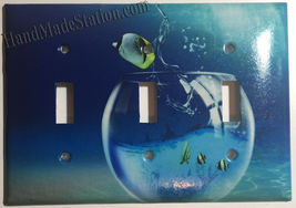Fish Jump out from Glass Light Switch Power Outlet wall Cover Plate Home decor image 4