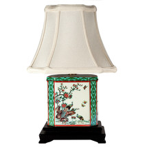 FREE SHIP: Vintage Tea Caddy Upcycled Lamp with New Lamp Shade - $88.83