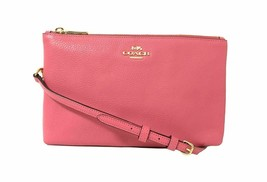 NWT COACH Lyla Crossbody Luxury Leather Shoulder Bag Pink Ruby Gold F342... - $93.41