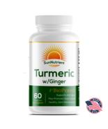 Sun Nutrient - Turmeric and Ginger Dietary Supplement-  Curcuminoids - W... - $19.99