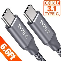 USB C Cable, Powerman Hi-Speed USB Type C Fast Charging Cable 20V 5A 6.6ft - $6.58