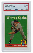 Warren Spahn 1958 Topps #270 Milwaukee Braves Baseball Card PSA VG+ 3.5 - $69.29