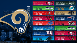 Los Angeles Rams NFL 2017 schedule Poster 24 X 36 inch  - $18.99