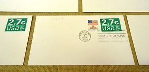 USPS Scott U579 2.7c Envelope Non Profit Organization Lot of 5 Green