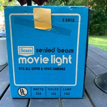 Vintage Sears Movie Light, Model 38813, Sealed Beam, 250W, From 1960s - $24.25