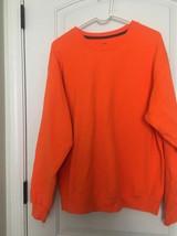 Fruit Of The Loom Adult SweatShirt Top Sz L Orange Shirt - $72.46