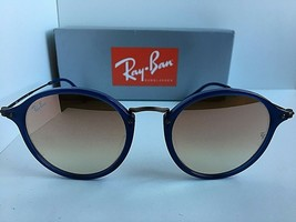 New Ray-Ban Cobalt Round Mirrored 52mm Sunglasses  - $129.99