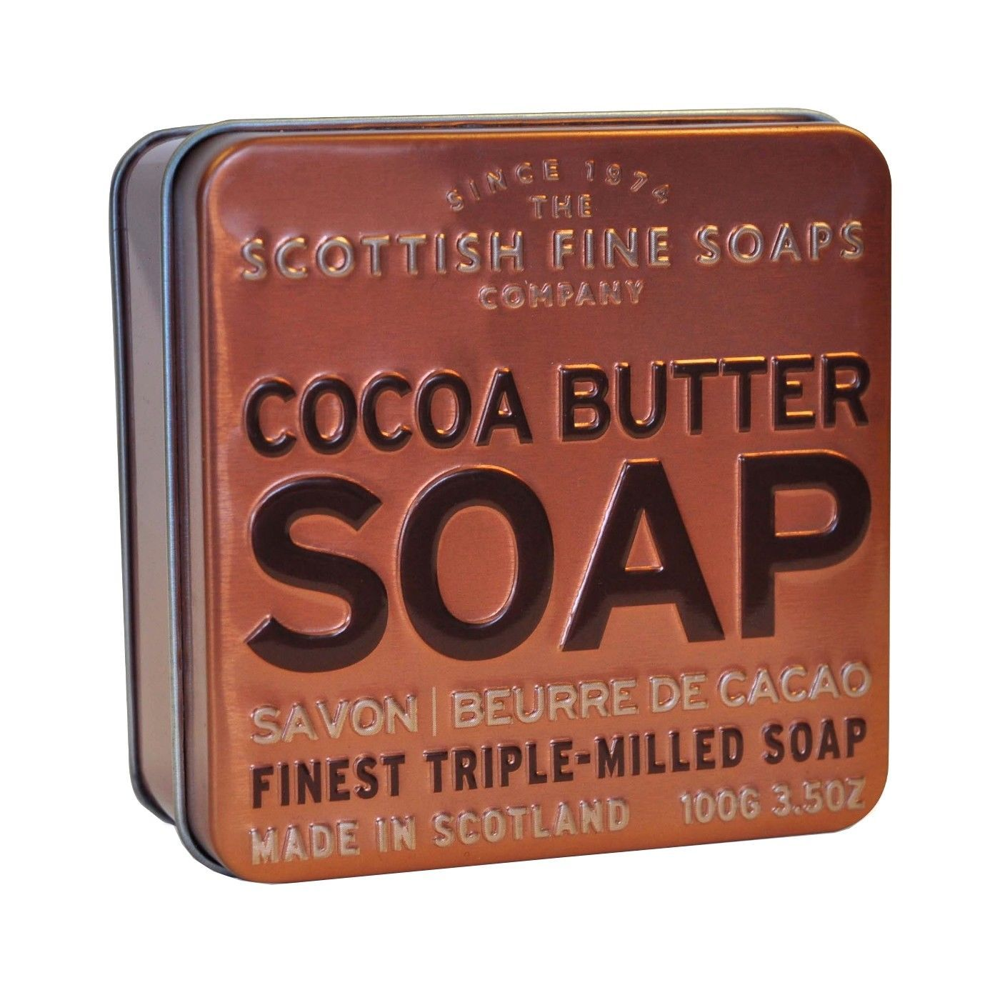 Primary image for Scottish Fine Soaps in a Tin Collection - Cocoa Butter 100g 3.5oz
