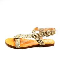 Vince Camuto Womans Ravensa T Strap Flat Sandal Grey Snake Skin Sz 8 M NEW - $35.32
