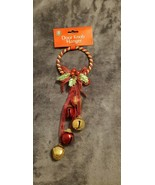 VINTAGE CHRISTMAS HOUSE BELLS RED AND GOLD DOOR KNOB HANGER - NEW - $8.00
