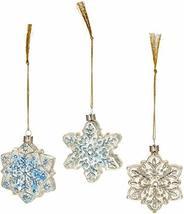 Lenox Vintage Glass Snowflake Ornaments, Set of 3 - $18.53