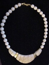 Stunning Vintage NAPIER Shell Choker Necklace Signed - $24.95