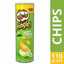 Pringles Sour Cream & Onion 110 gram 3.8oz Vegetarian Potato Crisps Chip... - $9.25+
