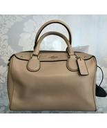 COACH Beige/Tan Leather Double Top Handle Hand/Shoulder Bag $295 - $139.49