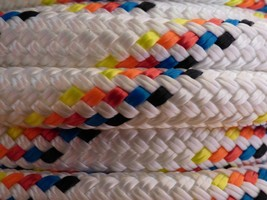 "Double Braid-Yacht Braid Polyester Rope.Made in USA. 5//8/"" x 100 ft"