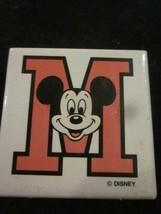 Wdw Vintage Walt Disney World Varsity Mickey Mouse Pinback Pin Button New - $6.99