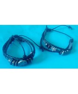 2 Leather bracelet Filipino handmade Philippine jewelry - $11.83