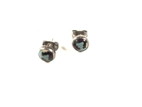 Primary image for Native American Sterling Silver Turquoise ETC Pierced Earrings Unbranded 53016