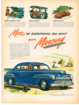 Vintage 1946 Magazine Ad Mercury More Of Everything You Want With Mercury - $5.93