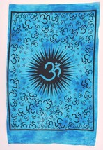 Buddha4all Om Indian Cotton Table Cover Small Tapestry Ethnic Yoga Mat H... - $247,27 MXN