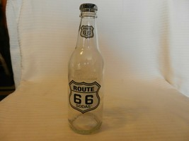 Route 66 Sodas Clear Glass Bottle Cream Soda 12 Ounce, Empty - $14.85