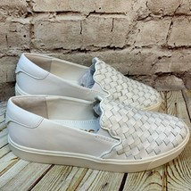 Sam Edelman Woven White Slip On Flats Loafers Size 8 - $32.42