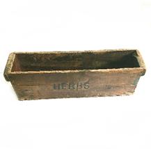 Vintage Wood Herbs Box - $58.91
