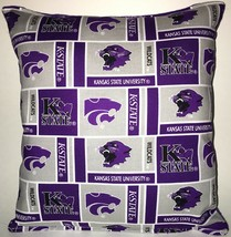 Kansas State Pillow Kansas State University Pillow NCAA HANDMADE IN USA KS - $9.97
