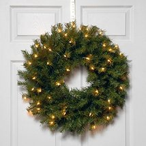 National Tree 24 Inch Norwood Fir Wreath with 50 Battery Operated Warm White LED image 2