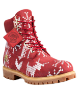 """Timberland Men's Premium 6"""" The Ugly Sweater Red Boots - Limited Holiday Release - $149.95"""