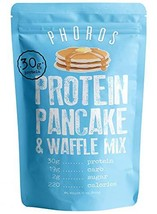 Protein Pancake & Waffle Mix by Phoros Nutrition, Low Carb, High Protein, Low Gl
