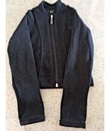 Girl's Mondor Polartec Power Stretch Black Velour Zip Up Jacket (4-6) - $21.04