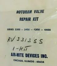 NEW AIR MITE KIT 3300-3400-4300-4400 ROTORAM VALVE REPAIR KIT RV 3313SS image 2