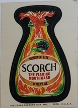 1974/ 6th S Topps Wacky Sticker Scorch The Flaming Mioutwash 6 Fiery Oz - $1.95