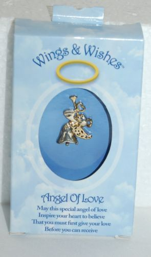 DM Merchandising Wings Wishes Angel Love Silver Body Gold Designs